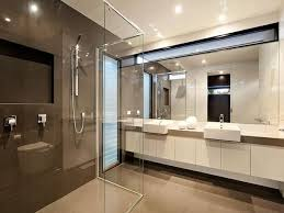 Bathroom Design With Twin Basins Using Glass Bathroom Photo - Glass bathroom designs