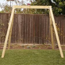 Flexible Flyer Lawn Swing Frame by Amazon Com Outward Play Holt Wooden A Frame Two Seat Swing Set