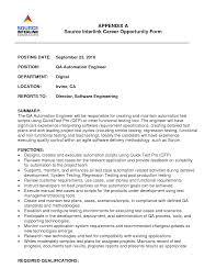 sample resume for senior software engineer best ideas of senior automation engineer sample resume with brilliant ideas of senior automation engineer sample resume for download resume