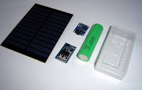 solar power bank with salvaged 18650 tinker projects