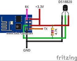 temperature sensor on the web with esp8266 and ds18b20 elec cafe com