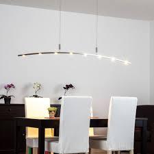 Esszimmerlampe Mit Touchdimmer Led Pendelleuchte In Exklusivem Design Eleganter Bogen Hängelampe