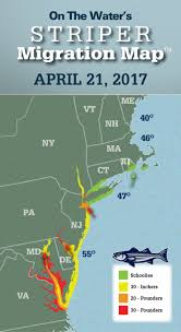 Rhode Island On Map Striper Migration Map April 21 2017 On The Water