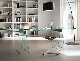 Glass Desk With Storage Office Bring Modern And Trendy Look With Glass Office Desk