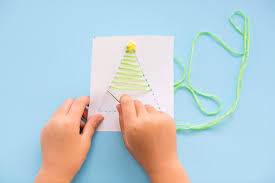 hello wonderful kid made diy string art christmas cards