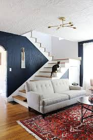 Gray Couch Ideas by Extraordinary Accent Wall Ideas For Living Room Dark Blue Wall