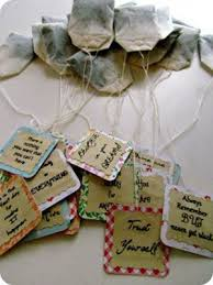 tea bag party favors personalized message tea bags favecrafts