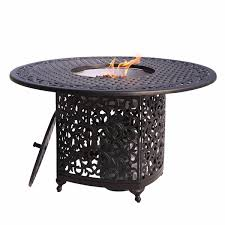 48 Inch Fire Pit by Decor Kingston 48 Inch Round Aluminum Patio Dining Table With