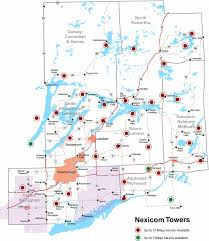 T Mobile Tower Map Nexicom Connected Naturally Internet Telephone Cable Tv