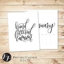 Liturgical Desk Calendar Minimalist 2016 Handlettered Printable Wall Desk Calendar Black
