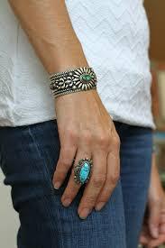 ring cuff bracelet images Darryl becenti pilot mountain turquoise cuff bracelet silver jpg
