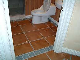 tile floor with border