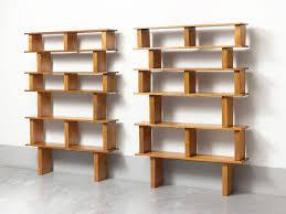 charlotte perriand u0026 pierre jeanneret pair of pine bookshelves