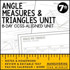 7th grade math angle relationships and triangles unit 7 g 2 7 g 5