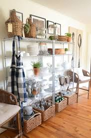 kitchen floating stainless steel kitchen shelves rustic wall