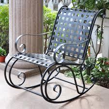 Outdoor Rocker Chair International Caravan Scroll Iron Metal Outdoor Rocker Hayneedle