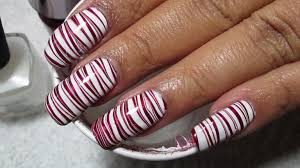 nail art unbelievabler marble nail art photos ideas candy cane