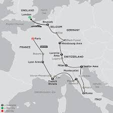 Brussels Map Of Europe by Central Europe Tour Cosmos Affordable Tour Packages
