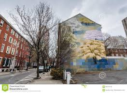 Philadelphia Mural Arts Map by Spring Mural Arts Philadelphia Pa Editorial Stock Image
