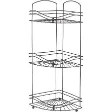bath bliss 3 tier corner bath shelf organizer walmart com