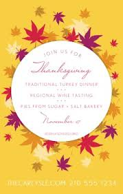 Thanksgiving Dinner Menu Template Thanksgiving Feast Flyer Thanksgiving Flyer