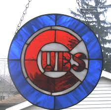 Chicago Cubs Flags Chicago Cubs Stained Glass Pinterest Chicago Cubs Chicago