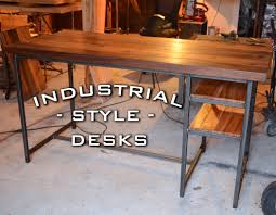 Industrial Writing Desk by Buy A Hand Crafted Industrial Desk Style Made To Order From