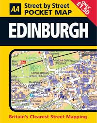 Edinburgh Map Pocket Map Edinburgh Aa Street By Street Amazon Co Uk Aa