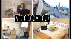 Attic Bedroom by University Room Tour Attic Bedroom Youtube