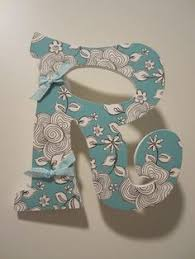 cardboard letters with scrapbook paper simple and inexpensive
