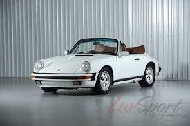 rare porsche 911 1988 porsche 911 3 2 carrera cabriolet rare grand prix white brown