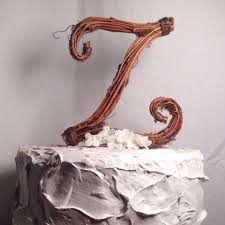 cake letter z rustic twig wedding cake topper 2331295 weddbook