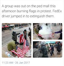 Illegal To Burn American Flag Way To Go Fed Ex Album On Imgur