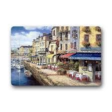 popular french bath decor buy cheap french bath decor lots from memory home fashion european style doormat most beautiful french cassis coast cafe watercolor painting doormat door