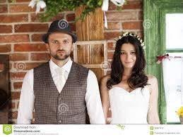 bride and groom country style wedding stock photography image
