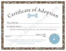 25 adoption certificate ideas adopt kid