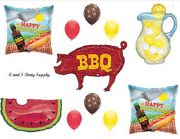 Picnic Decorations Amazon Com Bbq Cookout Birthday Party Balloons Decorations