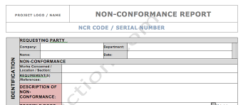 ncr report template ncr form nonconformance report quality in construction