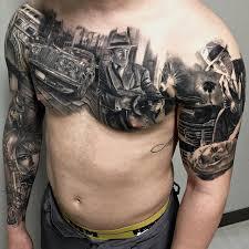 gangster city on guys chest best design ideas