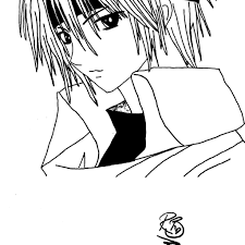anime boy coloring pages funycoloring