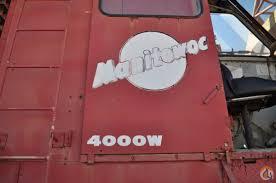 manitowoc 999 operators manual manitowoc 4000w crane 150 ton cap crane for in houma louisiana on
