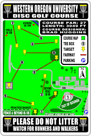 Oregon Campus Map by Disc Golf Campus Recreation