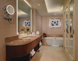 luxurious corner suite bathroom spacious and private water closet