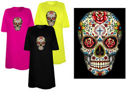 4x Plus Size Clothing Sale Sugar Skull With Cross Day Of The Dead Plus Size U0026 Supersize