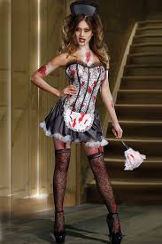 black zombie maid costume horror costumes womens horror