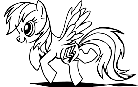 magnificent my little pony princess coloring page with rainbow