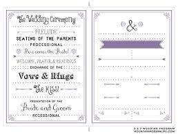 sle wedding programs templates program template free leversetdujour info