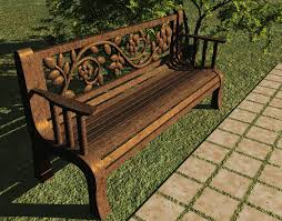 3d Bench Carved Rose Back Park Bench Free 3d Model Diana Morningstar