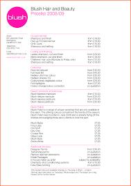 prices at regis hair salon 10 salon price list template survey template words