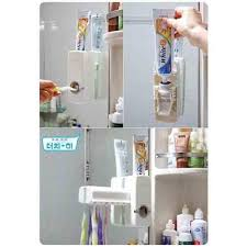 Jual Pasta Gigi Clean Me dispenser odol pasta gigi tempat sikat gigi toothpaste dispenser